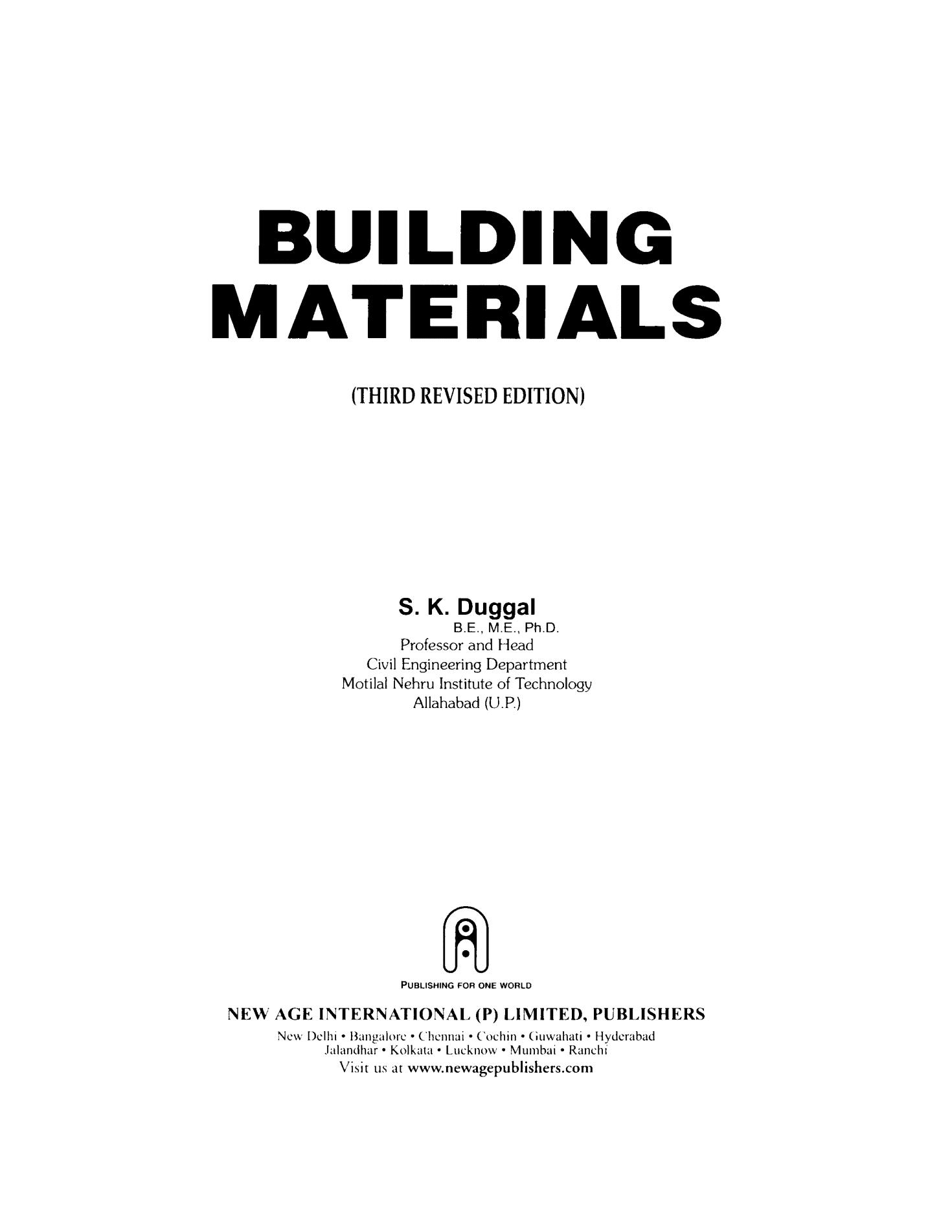 Download Building Materials book