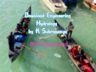 Download Engineering Hydrology by K Subramanya