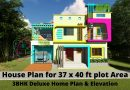 House Plan for 37 x 40 ft