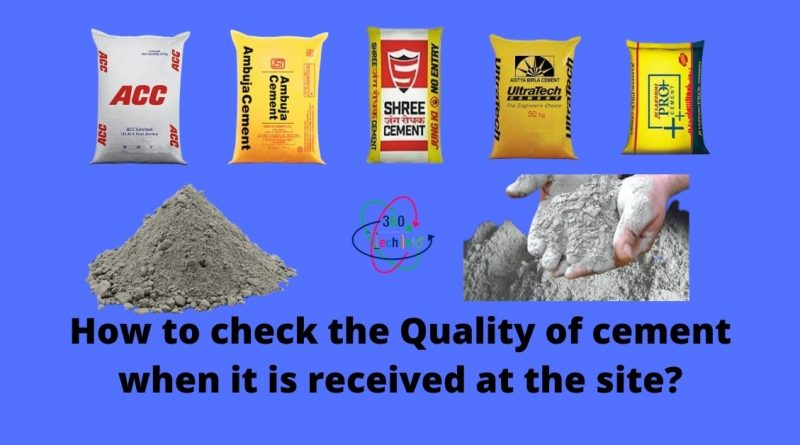 check the Quality of cement