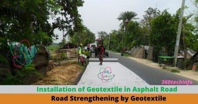Installation of Geotextile in Asphalt Road