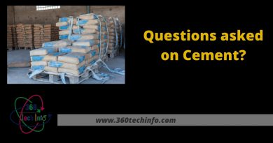 Questions asked on Cement